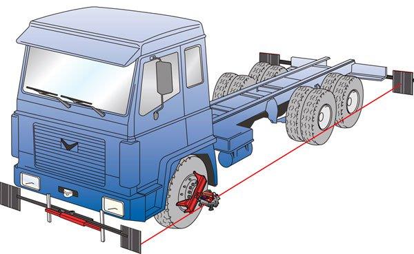Развал схождение на грузовых автомобилях своими руками