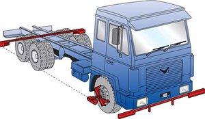 Стенд развал схождение для грузовых автомобилей